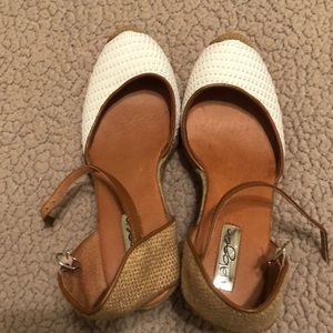 Shoes - Halogen Brown and White Wedges Size 8